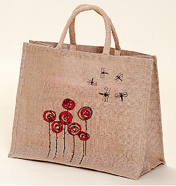 100% Recycled Jute Tote Bag