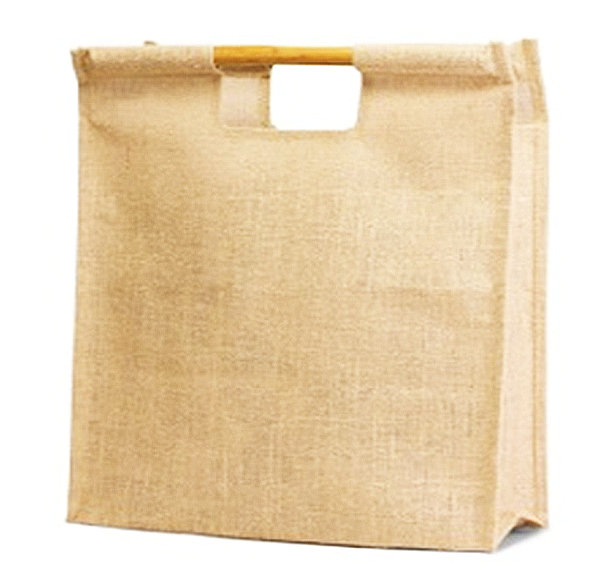 Jute BAMBOO HANDLE Shopping Bag